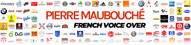thefrenchvoice.com – genuine male French voice over, real French accent Logo